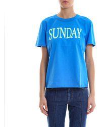 Alberta Ferretti - Rainbow Week Sunday T-shirt - Lyst