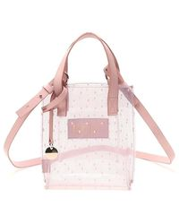 RED Valentino Redvalentino Point D'esprit Small Tote Bag - Pink