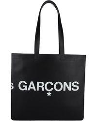 Comme des Garçons Huge Logo Print Tote Bag - Black