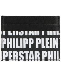 Philipp Plein Monogram Printed Cardholder - Black