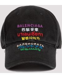 Balenciaga Languages Baseball Cap - Black