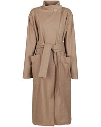 Lemaire Wrapover Coat - Natural