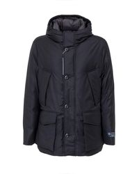 Woolrich Pocket Detail Padded Jacket - Blue
