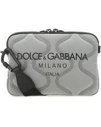 Dolce & Gabbana Palermo Tecnico Crossbody Bag - Gray