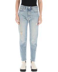 Totême Toteme Twisted Cropped Jeans - Blue