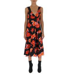 Marni Graphic Printed Flared Midi Dress