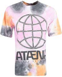 McQ Tie-dye Round Neck T-shirt - Multicolour