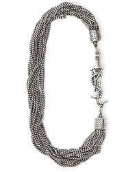 Saint Laurent Loulou Necklace - Metallic