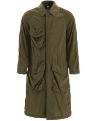 Burberry Raincoat With Cargo Pockets - Green