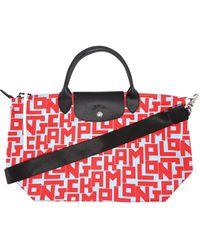 Longchamp Le Pliage Lgp Medium Tote Bag - Red