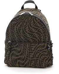 Fendi Ff Vertigo Motif Backpack - Black