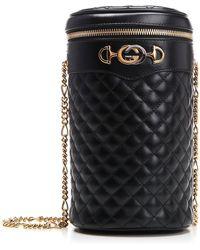 b692b6bec884 Gucci Quilted Horsebit Belt Bag in Black - Lyst