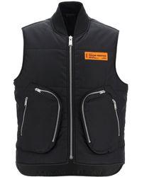Heron Preston Padded Vest With Pockets S Technical - Black