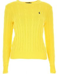 Polo Ralph Lauren Cable Knit Jumper - Yellow
