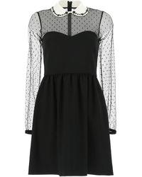 RED Valentino Redvalentino Tulle Mini Dress - Black