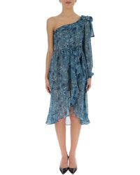 For Love & Lemons - Floral Print Ruffle Dress - Lyst