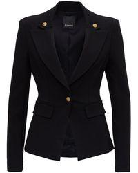 Pinko Single Breasted Jacket - Black