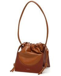Yuzefi Pouchy Bucket Bag - Brown