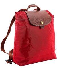 Longchamp Le Pliage Original Backpack - Red