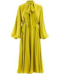 Valentino Pussy Bow Dress - Yellow