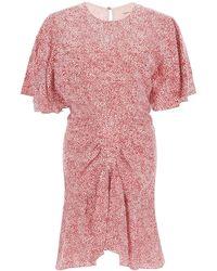 Étoile Isabel Marant Osias Printed Mini Dress - Red