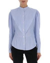 Stella McCartney Mandarin Collar Shirt - Blue