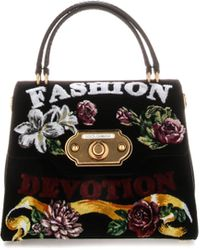 Dolce & Gabbana Top Handle Hand Bag - Black