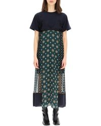 Sacai Printed Dress - Green