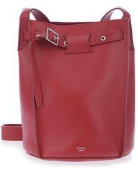9890f9ffd5 Lyst - Céline Black Grained Calfskin Leather