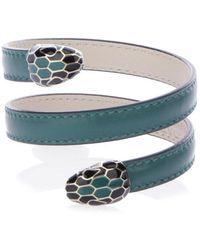 BVLGARI - Serpenti Forever Leather Bracelet - Lyst