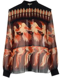 Fendi Bird Print Button-up Blouse - Multicolour