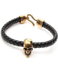 Alexander McQueen Skull Bracelet - Black