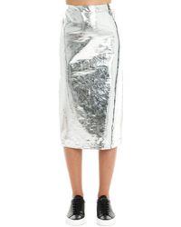 McQ Polyurethane Skirt - Metallic