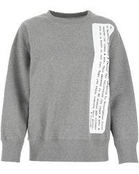 MM6 by Maison Martin Margiela Description Print Crewneck Sweatshirt - Gray