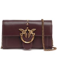 Pinko Love Chain Strap Wallet - Red