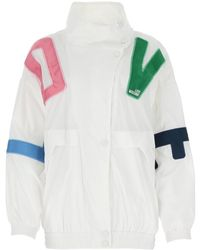 Love Moschino Lettering Print Jacket - White