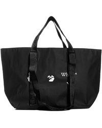 Off-White c/o Virgil Abloh Logo Shopper Tote Bag - Black