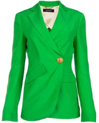 Versace Trésor Asymmetric Blazer - Green
