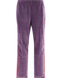 Needles Velvet Side Band Trousers - Purple