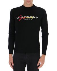 Givenchy Signature Logo Embroidered Jumper - Black