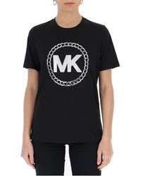 MICHAEL Michael Kors Monogram Logo T-shirt - Black