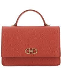 Ferragamo Gancini Mini Shoulder Bag - Red