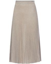 Prada Pleated Knitted Skirt - Natural