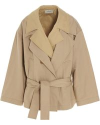 Lemaire Layered Trench Blouson Jacket - Natural
