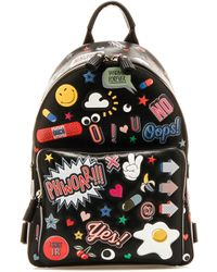 Anya Hindmarch All Over Print Backpack - Black