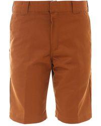 Carhartt WIP Rear Logo Patch Bermuda Shorts - Brown