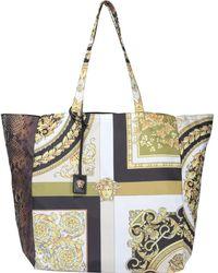 Versace Barocco Mosaic Printed Tote Bag - Multicolour