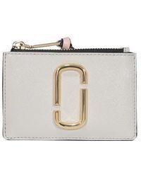 Marc Jacobs The Snapshot Top Zip Multi Wallet - White