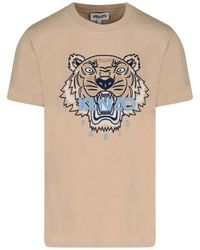 KENZO Tiger Oversized T-shirt - Natural