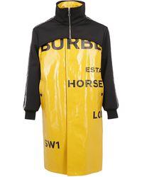 Burberry Car Coat Horseferry Print - Yellow